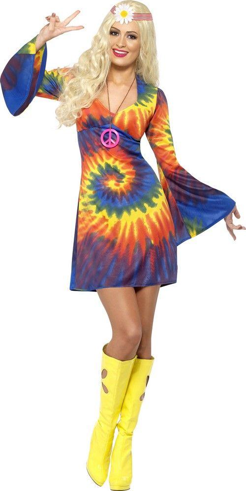 Costume hippie multicolore donna: Costumi adulti,e vestiti di carnevale online - Vegaoo