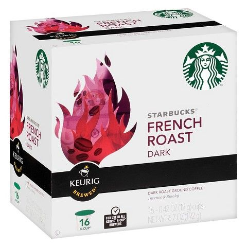 Starbucks French Roast Coffee K-Cup 16 ct