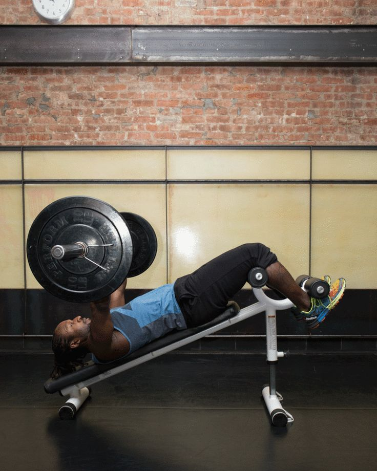 16. Barbell Overhead Sit-Up #abs #workout #exercises http://greatist.com/move/abs-workout-most-effective-core-moves-to-do-at-the-gym