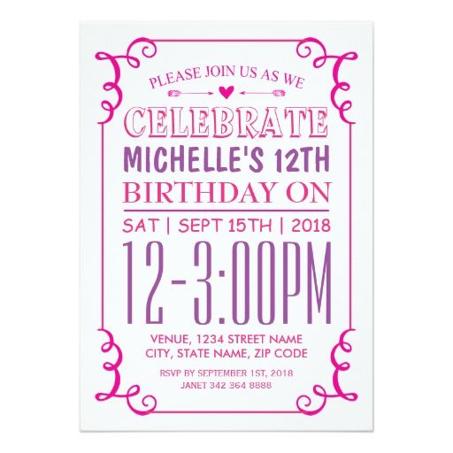 386 best images about Purple Pink Birthday Party Invitations on – Purple Party Invitations