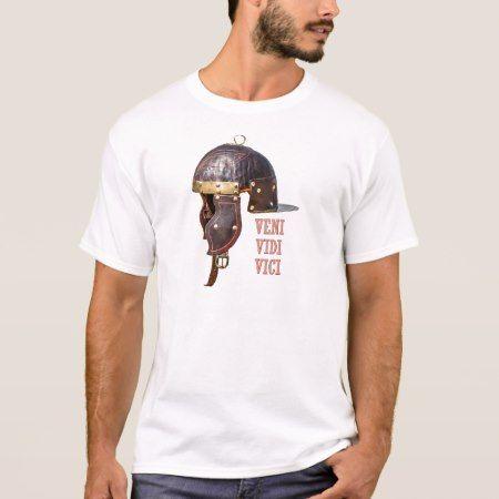 Veni, Vidi, Vici Ancient Roman helmet T-Shirt - tap, personalize, buy right now!