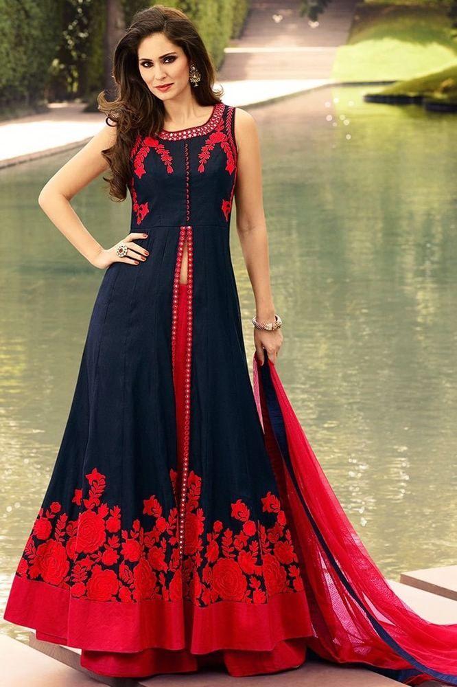 Indian Bollywood Ethnic Designer Anarkali Salwar Kameez Suit & Traditional SP42