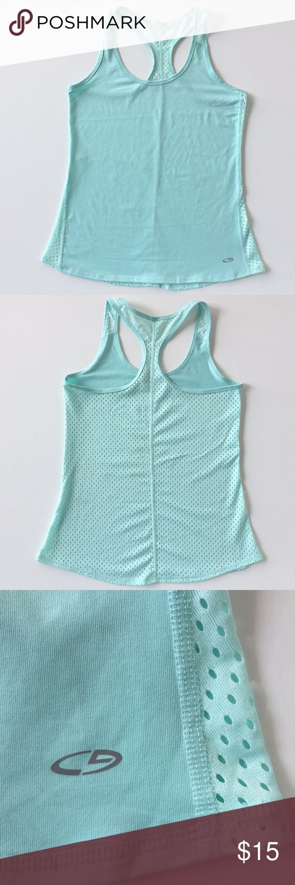 C9 by Champion Mint Green Workout Tank Top Light weight with a vented back to stay cool C9 by Champion tank top. Fitted but not tight. Original tag was removed for comfort. Minimal wear. Smoke free home. C9 by Champion Tops Tank Tops