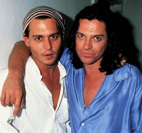 Johnny Depp and Michael Hutchence