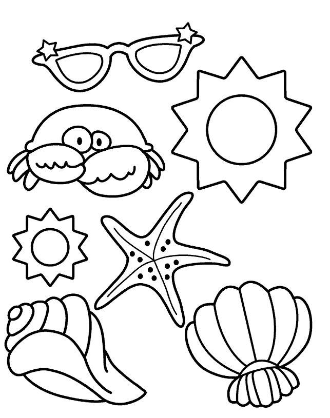 Strandkorb malvorlage  Die besten 25+ Strand Malvorlagen Ideen auf Pinterest | Sommer ...