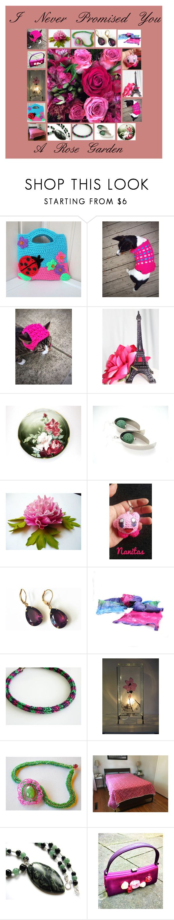Rose Garden: Handmade & Vintage Gift Ideas by paulinemcewen on Polyvore featuring Nintendo and vintage