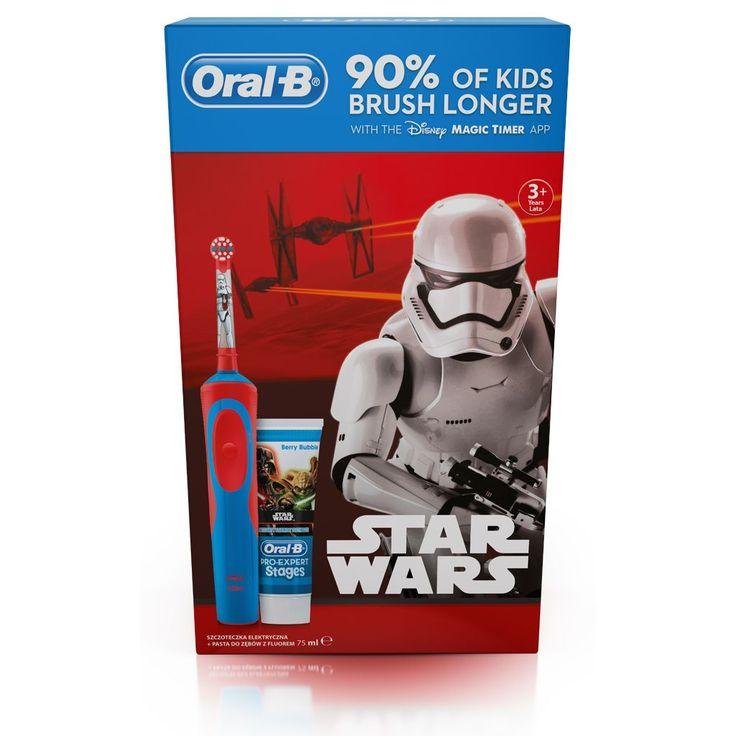 Szczoteczka elektryczna Oral-B D12 Kids Star Wars + pasta do zębów