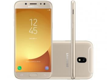 "Smartphone Samsung Galaxy J5 Pro 32GB Dourado - Dual Chip 4G Câm. 13MP Tela 5,2"" HD Proc.Octa Core"