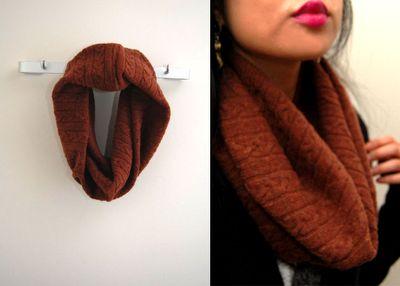 Sweater tube scarf.