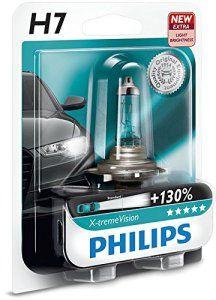 AMPOULE DE PHARE AVANT ORIGINE PHILIPS XTREME VISION +130 H7 (1PC) 12972XV + B1: Les ampoules halogènes pour phare de voiture les plus…