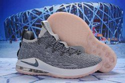 d9be1f4c240 Nike LeBron 15 Low Wolf Grey White Pink AO1756 003 Men s Basketball Shoes  James Trainers