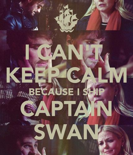 Captain Swan.....Last night I was trying to figure out what their couple name would be.....now I know.....
