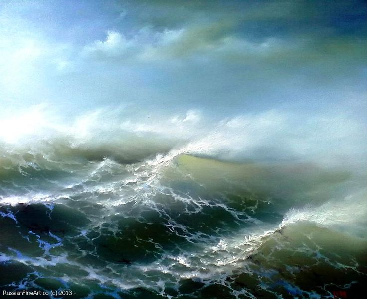 """Sergey Lim """"The Perfect Storm"""" - oil, canvas $880.00"""