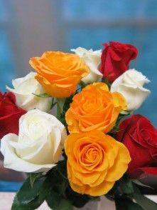 Rosas variadas 10 tallos