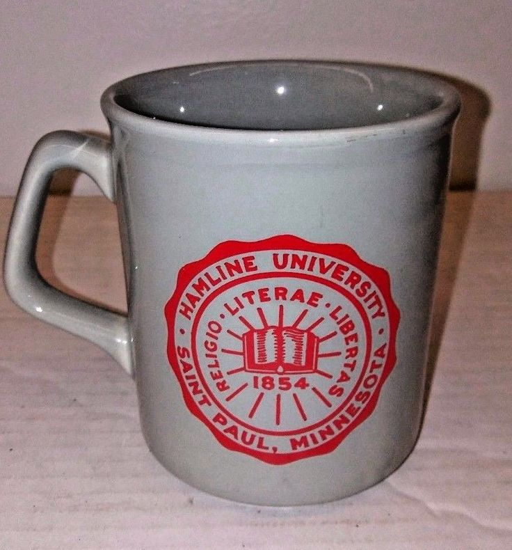 VTG Hamline University St. Paul Minnesota College Coffee Mug Grey