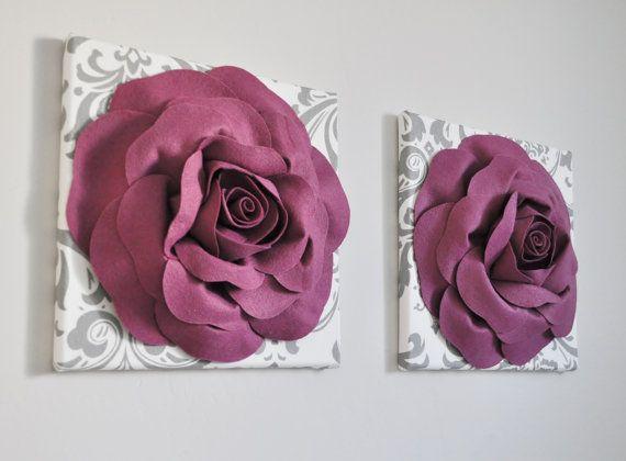Mûrier Rose tentures murales Vintage inspiré décoration d'intérieur, décoration d'intérieur Berry, texturé Wall Art, chambre de bébé, rose, violet, Rose de Damas la maison