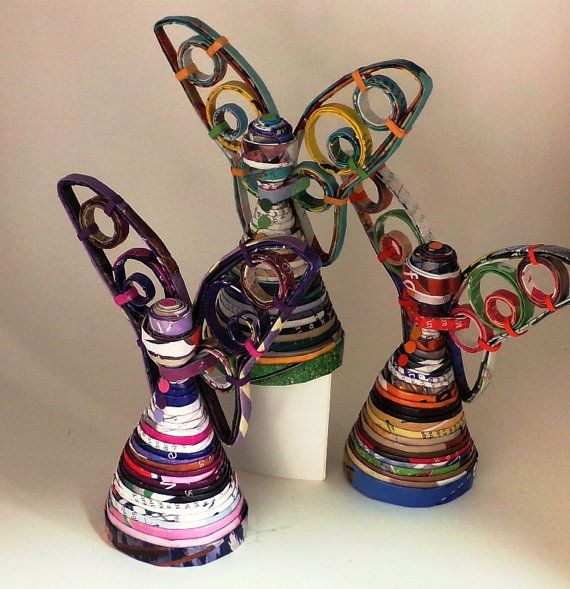 ANGEL 6 inches 2015 collection recycled by EloaJaneArtDesign