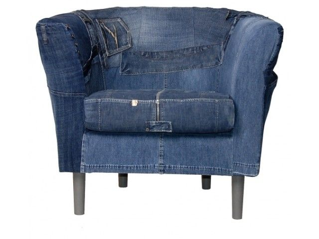 Stoel met denim stof bekleden decor ideas pinterest for Stof om stoel te bekleden