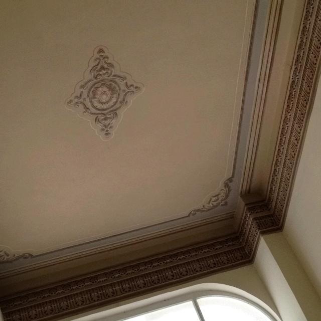 Restored ceiling on Agias Sofia's street
