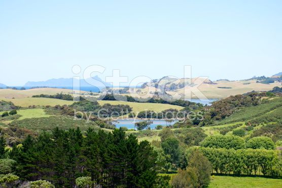 Whangarei District View, Northland, New Zealand royalty-free stock photo