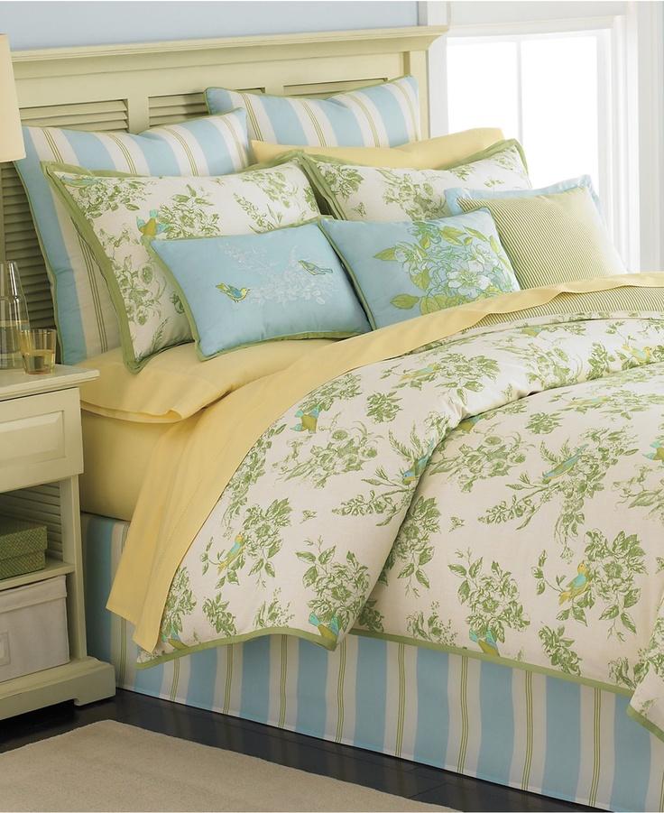 martha stewart collection bedding bluebird garden 6 piece california king comforter set bed in