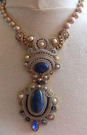 gorgeous with the pearls & blue