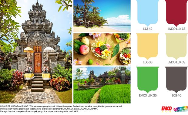 Kombinasi Warna Nuansa Bali #BiasaJadiLuarBiasa http://matarampaint.com/detailNews.php?n=21