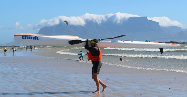View of Table Mountain from Blouberg Beach.