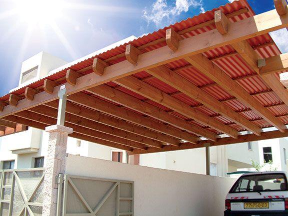 Carport Using Polycarbonate Roof Cubiertas De Pvc Piso Jardin Patio De Cochera