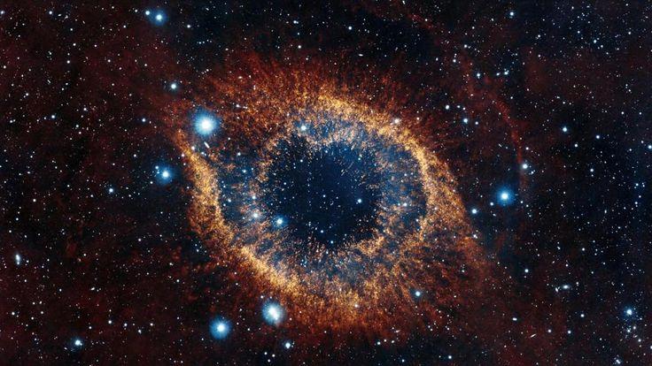 hélice nébuleuse, l'espace, étoiles, explosion, éclat