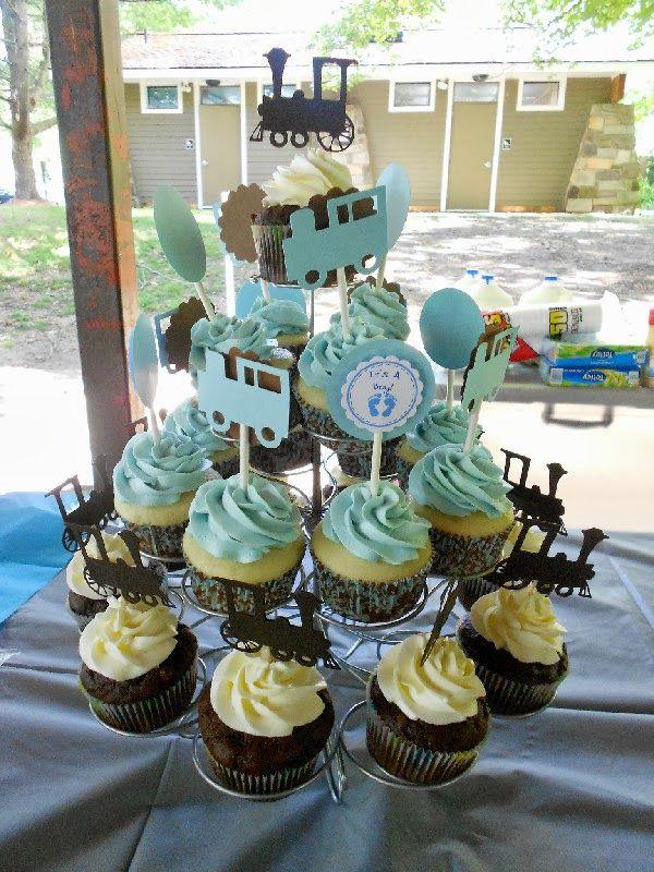 Train Theme Baby Shower Cupcakes