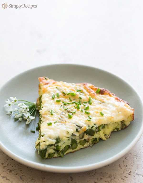 Asparagus Frittata ~ Quick and easy asparagus frittata.  Perfect for spring…