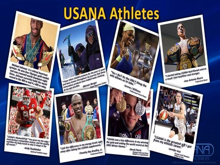 Athletes that use USANA a few among the 600 plus