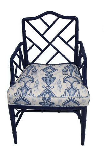 One of my favorite looks for updating a vintage Chinoiserie find is navy blue paint - classic and preppy but fresh and modern.