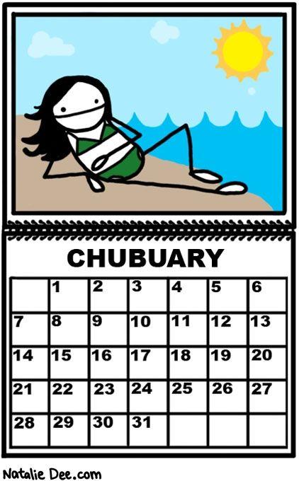 Comic by Natalie Dee: miss chubuary