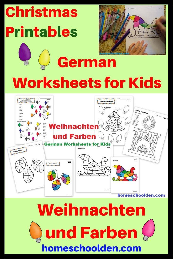 German Christmas Worksheets Weihnachten Und Farben Homeschool Homeschool Preschool Curriculum Christmas Worksheets [ 1102 x 735 Pixel ]