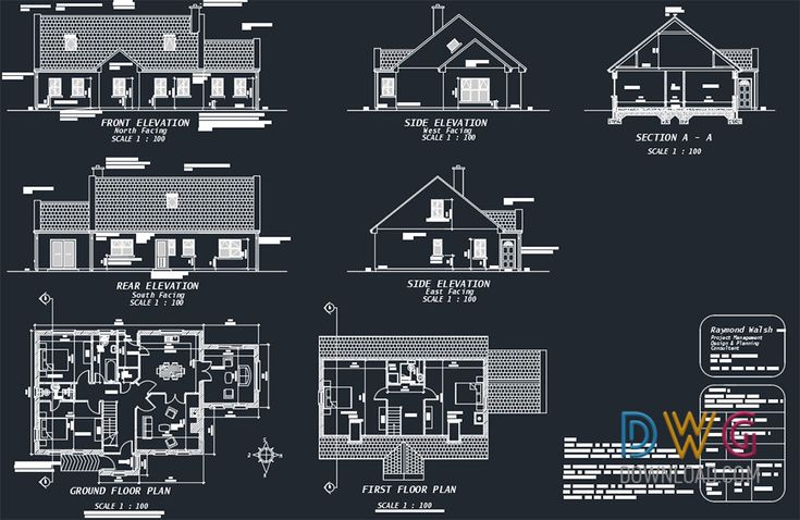 Pin On Architectural Detail Dwg Small house plan dwg download