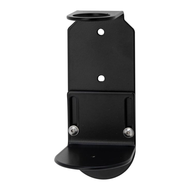 Single Wall Mounted Holder 500ml Satin Black Dispenser