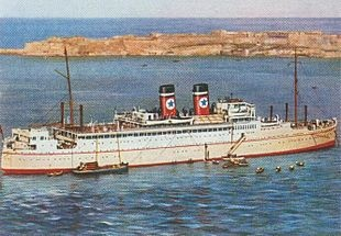 SS Arandora Star.  Launched: 1 April 1927;  Completed: May 1927;  Fate: On 2 July 1940, the Arandora Star, which was being used to transport German and Italian POWs and internees, was sunk by U-47 commanded by U-Boat ace Günther Prien. Of the 1,673 aboard, over 800 people were killed. Position: 55.20N, 10.33W - Grid AM 5116