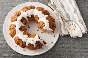Gâteau danois au caramel et aux pacanes