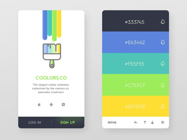 Daily UI #46 - Coolors.co