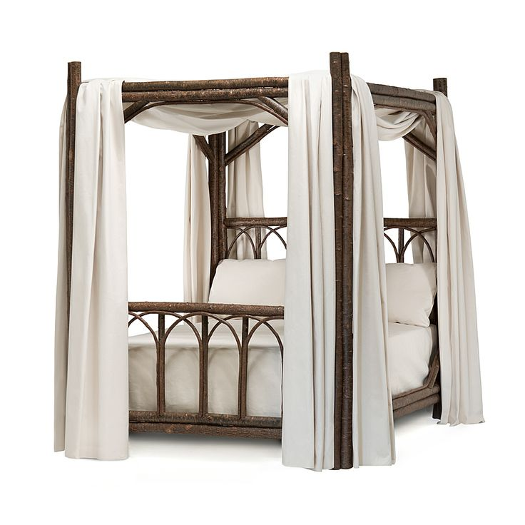 Rustic Canopy Bed (Queen) #4150 by La Lune Collection