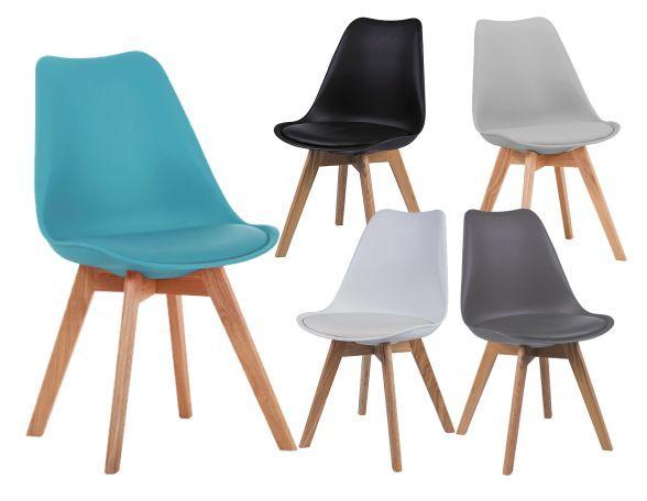 Krzesło KRIS buk w stylu skandynawskim do jadalni Signal to mebel inspirowany modnym i popularnym projektem krzesła z lat 50. znanych projektantów Eames. https://mirat.eu/krzesla-i-taborety,c127.html