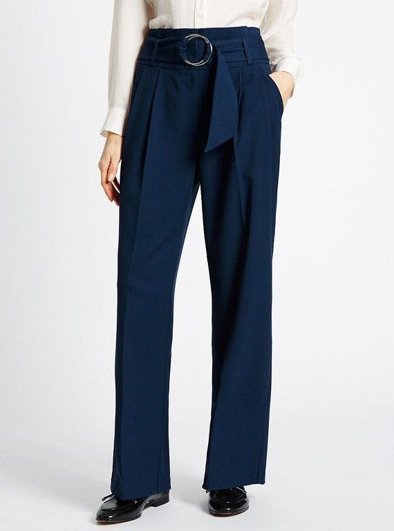 Belted Paper Bag Wide Leg Trousers, £35, Marks & Spencer