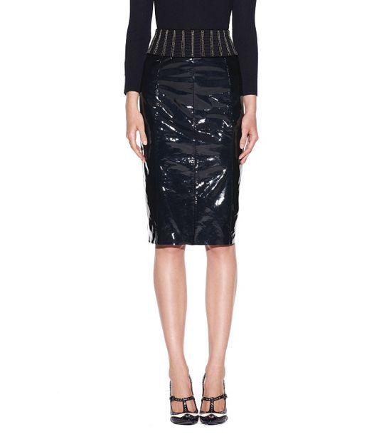 this patent leather skirt fashion