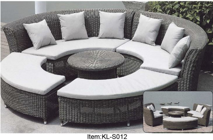Outdoor Patio Furniture Wicker 7 Piece Circular Sectional Sofa Seating Set With A Big Round Table Suppliers And Manufac Outdoor Furniture Patio Couch Furniture