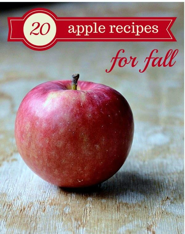 Try these 20 healthy apple recipes for fall from Real Food Real Deals. I can't wait to try that pizza!