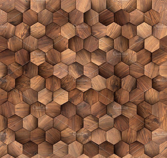 Hexagons wood wall seamless texture by rnax on @creativemarket
