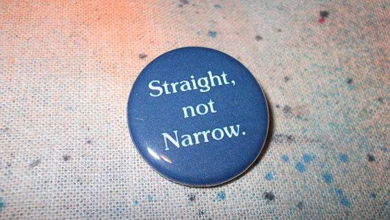 Straight not Narrow LGBT ally support by rainbowalternative