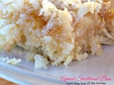 Apricot Shortbread Bars - Can't Stay Out of the Kitchen